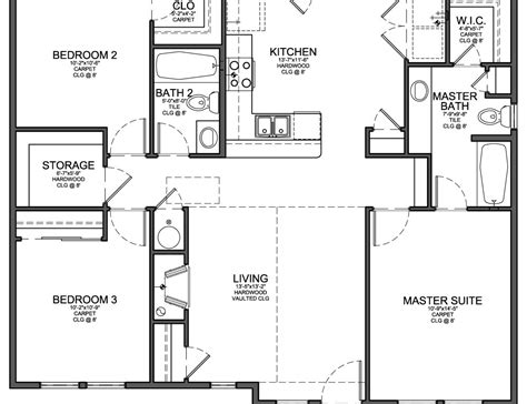 3 bedroom home plans three bedroom floor plans photos and