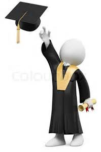 cap and gown high school 3d student dressed in cap and gown on graduation day
