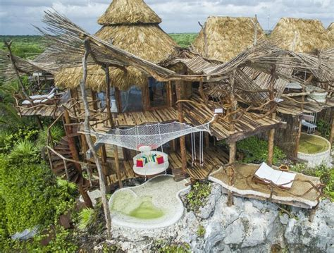 Best Resorts Tulum Azulik Treehouse Hotel In Tulum Destinations In