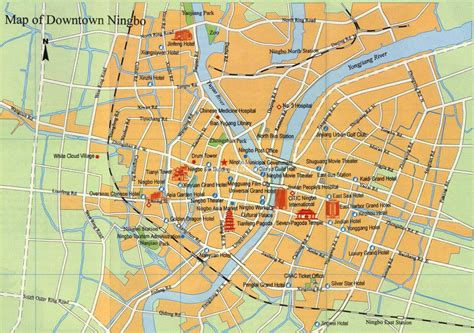 ningbo china map maps  ningbo
