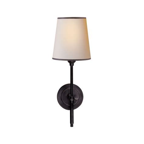 visual comfort lighting bronze with wax finish paper w black shade