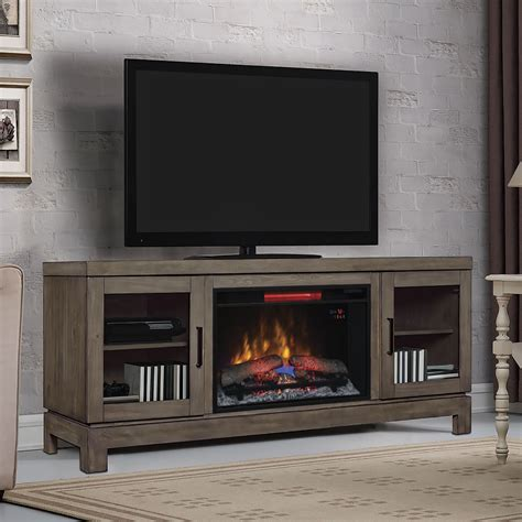 tv fireplace stand berkeley electric fireplace tv stand in grey