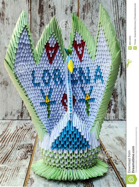 origami een zwaan stock afbeelding afbeelding