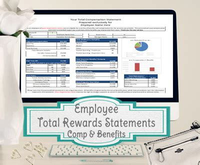 total rewards compensation template employee total rewards statement total compensation