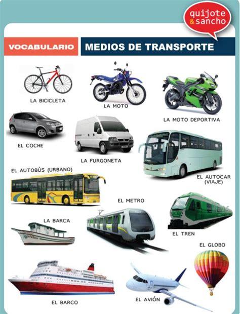Medios De Transporte Httpquijotesanchocomvocabulario