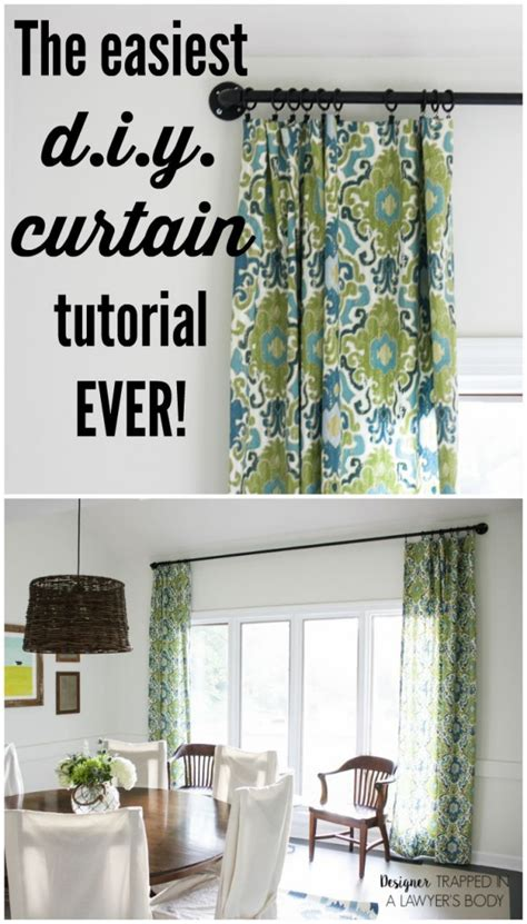how to make curtains the easy way designer trapped