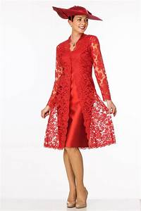 elegant red lace coat over silk dress joyce young With robes mere dela mariee