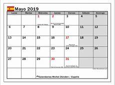 Calendario mayo 2019, España Michel Zbinden es