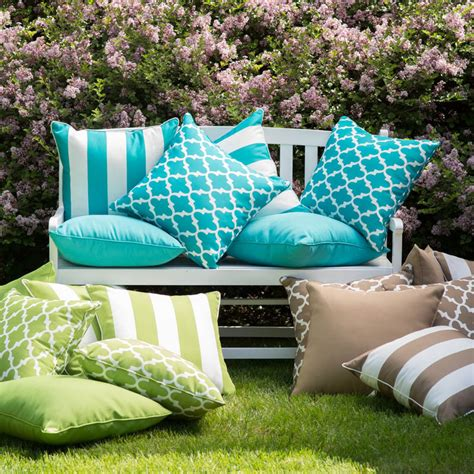 coral coast lakeside outdoor throw pillows set of 2