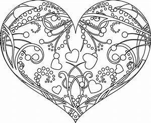 Dessin Saint Valentin : coloriage saint valentin un c ur d cor coloriages ~ Melissatoandfro.com Idées de Décoration