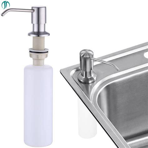 modun ml steel sink soap pump kitchen soap dispenser