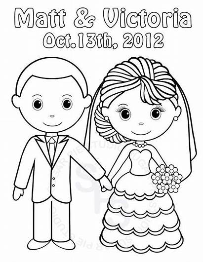 Coloring Printable Pages Bride Groom Table Activity