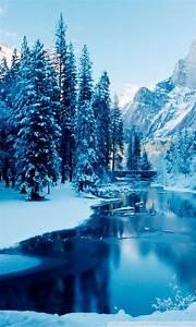 Blue Winter Landscape 4K HD Desktop Wallpaper for 4K Ultra