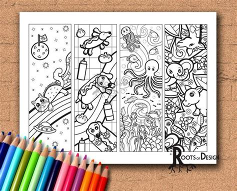 Instant Download Coloring Page Color Your Own Fun Animal