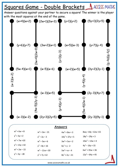 multiplying out brackets worksheet ks3 archives