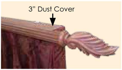 ananise custom 2 quot decorative traverse curtain rod