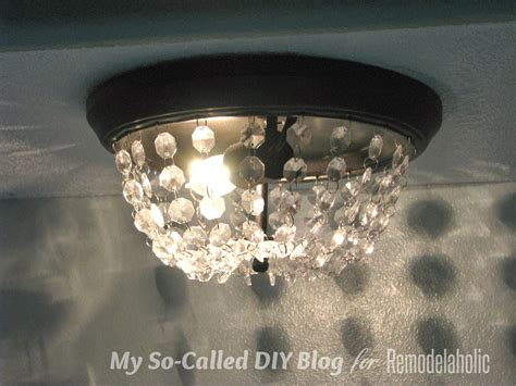 Pottery Barn Ceiling Mount Lights by Remodelaholic Update A Dome Ceiling Light With Faceted