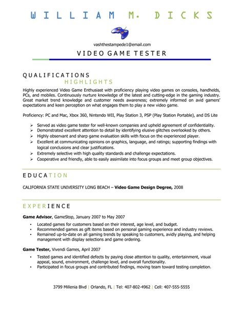 resume gamestop