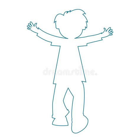 Little Boy Silhouette Stock Vector Illustration Of