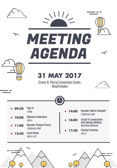 design  beautiful  visually engaging agenda poster