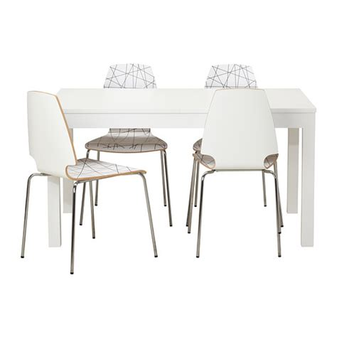 ikea vilmar chair white bjursta vilmar table and 4 chairs ikea