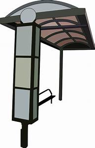Clipart - bus stop trace