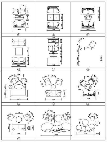 Sofa Cad Blocks Set – CAD Design | Free CAD Blocks