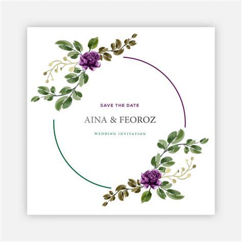 Wedding invitation card design template Vector Premium