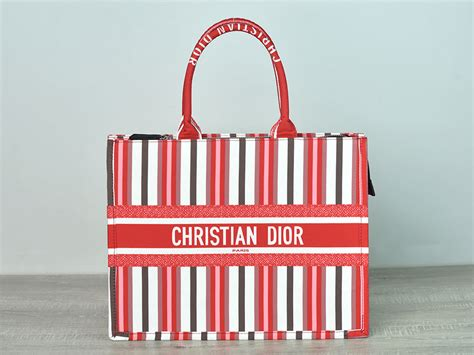 batam branded tas book tote embroidered canvas multicolor stripe list merah semprem