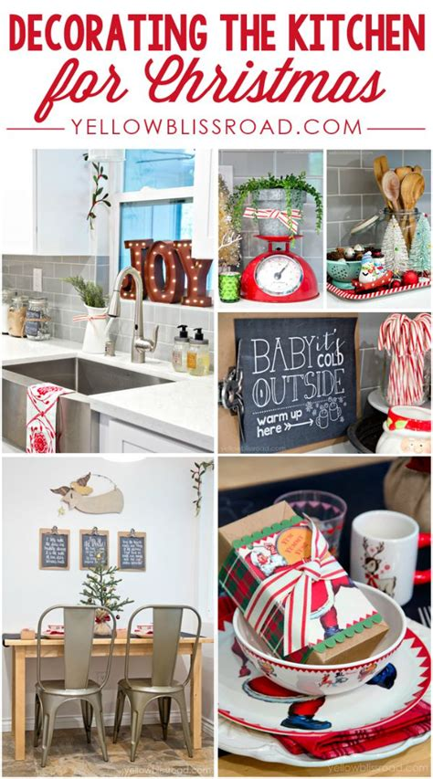 kitchen christmas decorations holiday inspiration