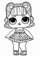 Lol Coloring Surprise Doll Dolls Pages Printable sketch template