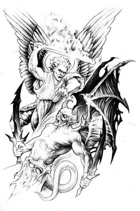 Jesse Santos - Book of angels   43 photos   VK   Saint Michael   Angel tattoo designs, Sketch