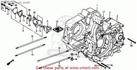 1977 Honda Ct70 Wiring Schematic by Honda C70 Passport 1980 A Usa Crankcase