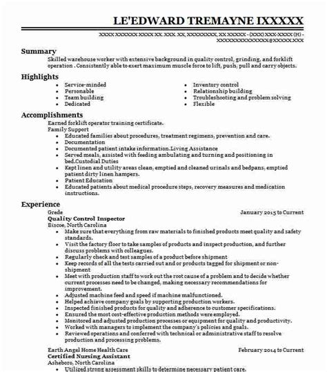 Quality Inspector Resume by Quality Inspector Objectives Resume Objective