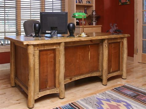 rustic western style furniture eclectic desks and