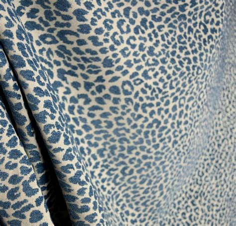 Animal Print Fabric For Upholstery by M9818 Delft Chenille Animal Print Blue Upholstery Fabric