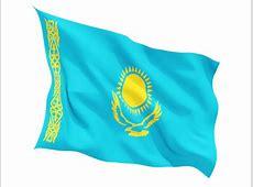 Казахстан, развевающийся флаг Скачать иллюстрацию