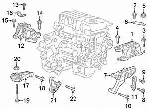 Chevrolet Malibu Automatic Transmission Mount Bracket  1 5