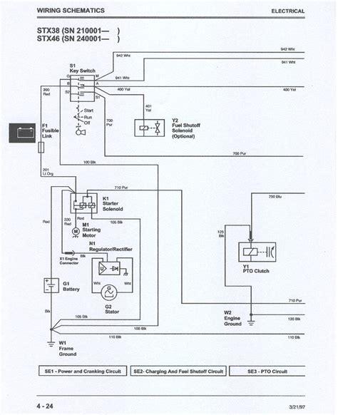 deere stx 38 wiring question lawnsite