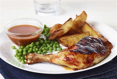 comment cuisiner des cuisses de poulet cuisse de poulet au four bbq avec patates rôties recette