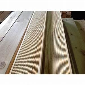 Poteau Bois Rond 3m : lame terrasse stri e pino 28x145mm pin autoclave cl 4 ~ Voncanada.com Idées de Décoration
