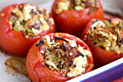 tomato bounty week feta  roasted red pepper stuffed