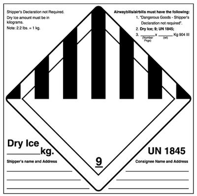 united ad label ulclb dry ice shipping ice shipping