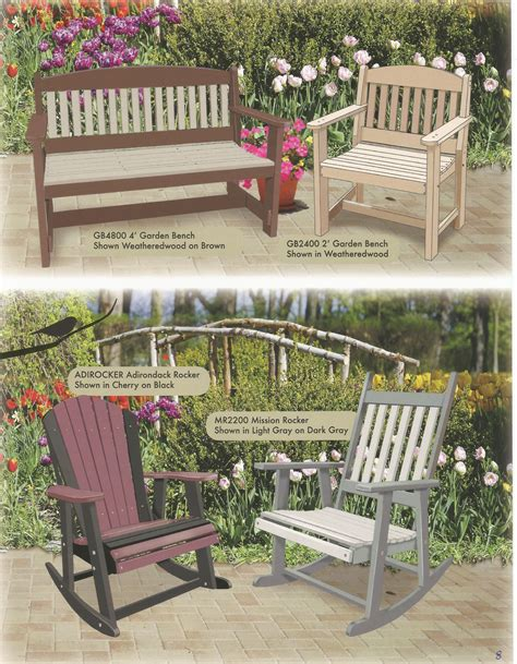 pin  poly wood outdoor furniture catalog