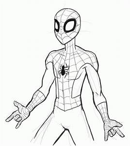 Drawing Of Spider Man - Coloring Home