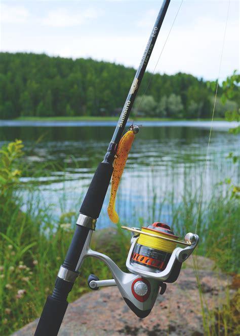 black  gray fishing rod  image peakpx