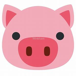 """Pig Face Emoji"" by Winkham Redbubble"