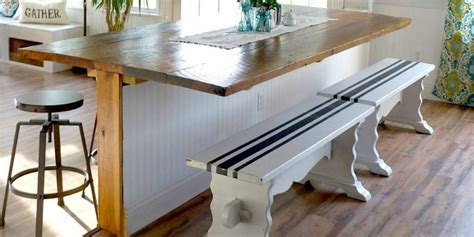 Remodelaholic Diy Built  Breakfast Bar Dining Table