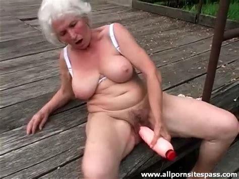 Huge Dildo Sex Outdoors With Curvy Grandma Alpha Porno