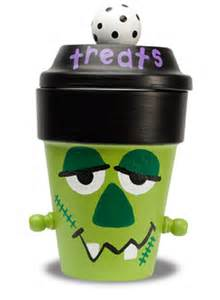 Frankenstein Halloween Clay Pots Crafts